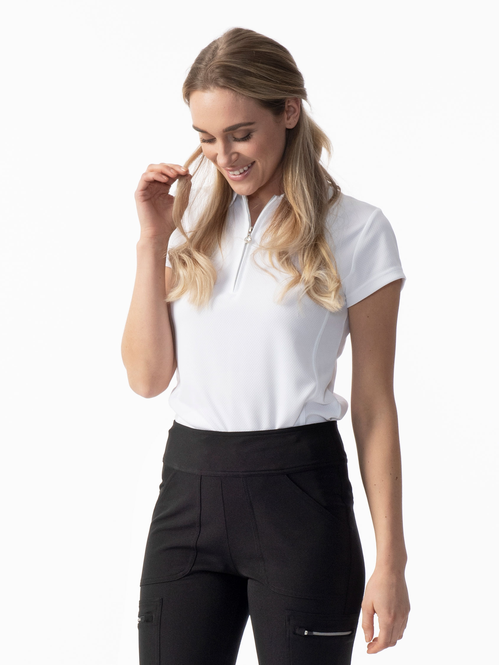 Macy Cap short-sleeved polo shirt