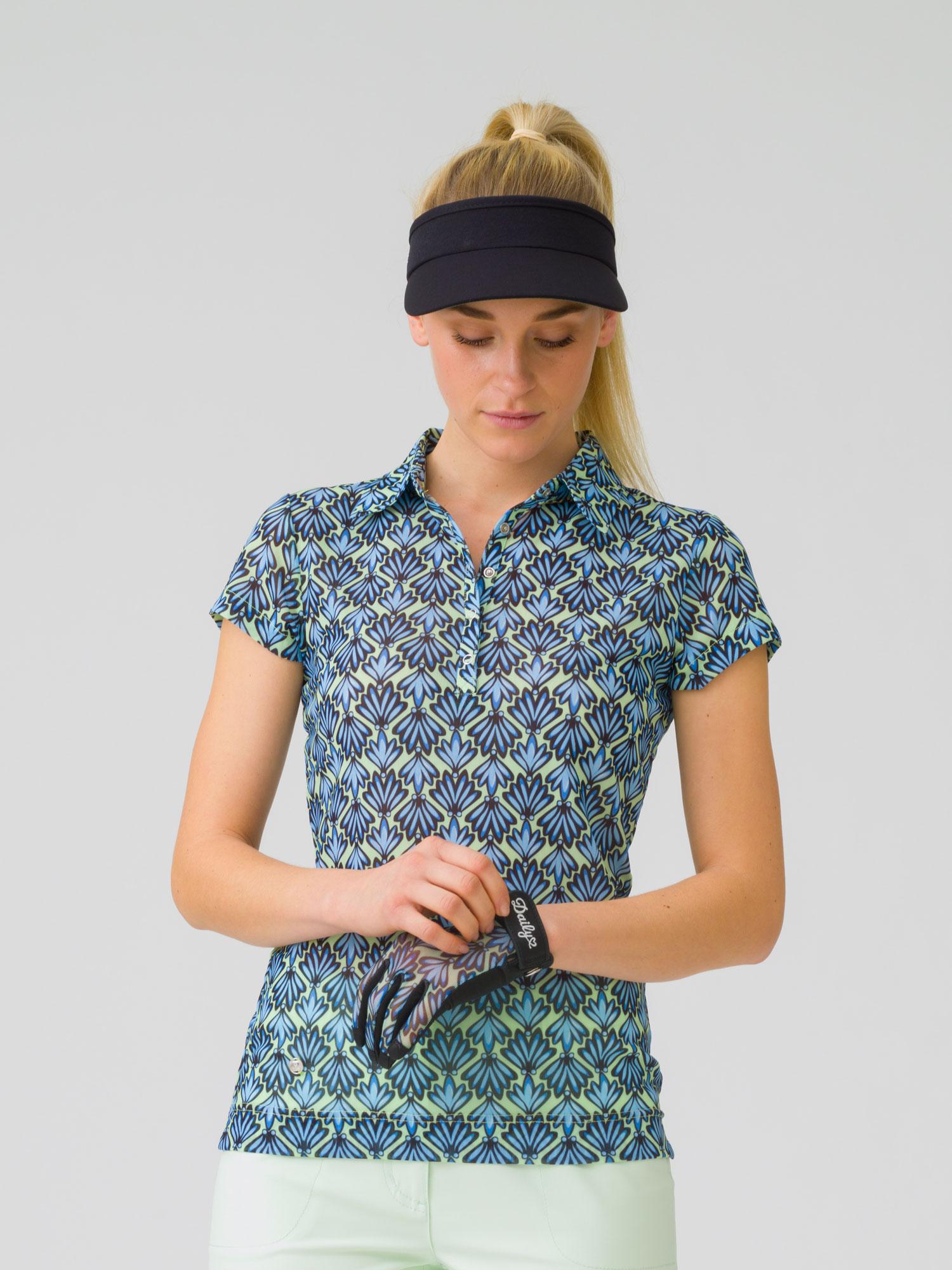 Kiley cap short-sleeved mesh polo shirt