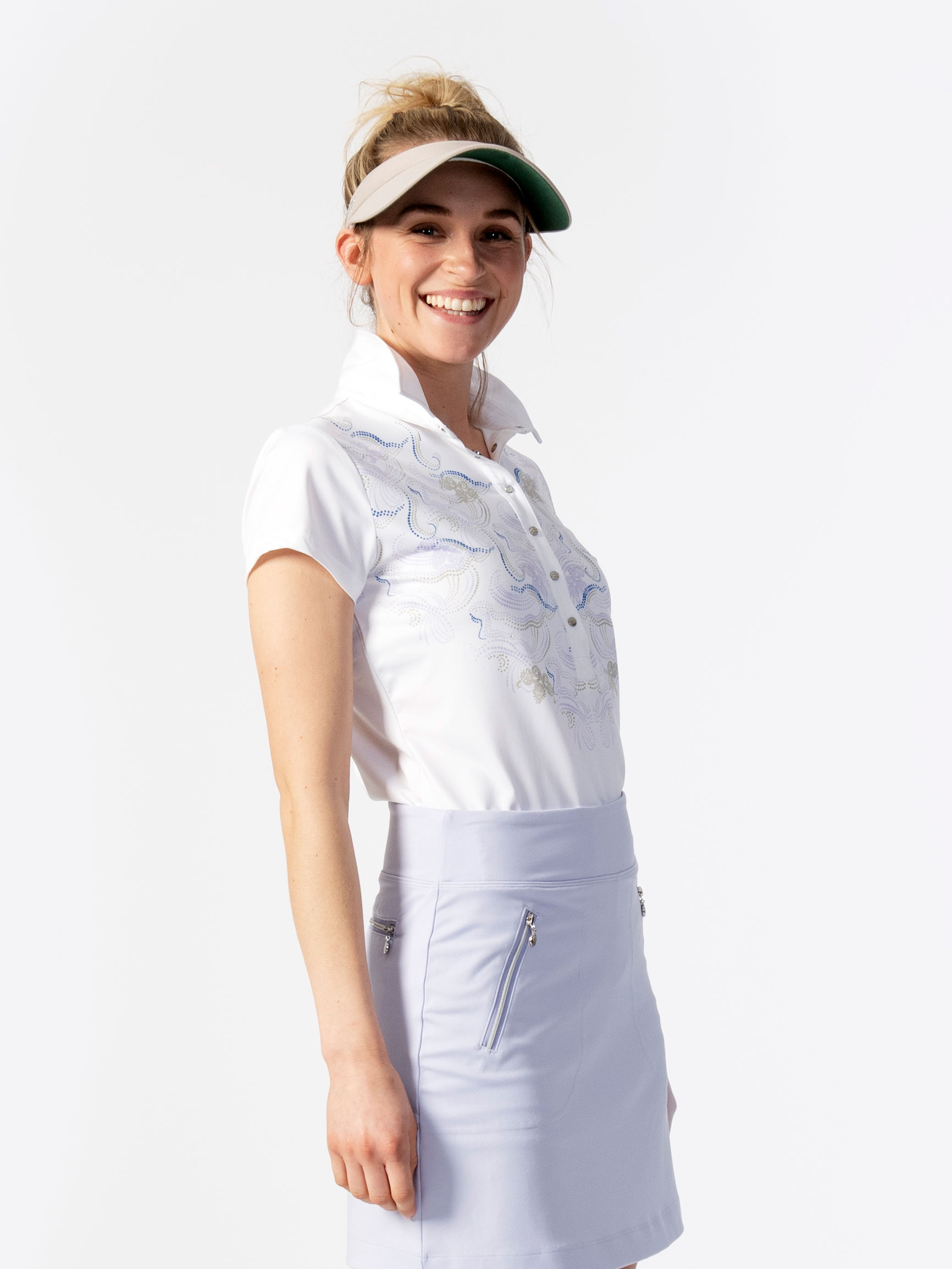 Viola Cap Short-sleeved Polo Shirt