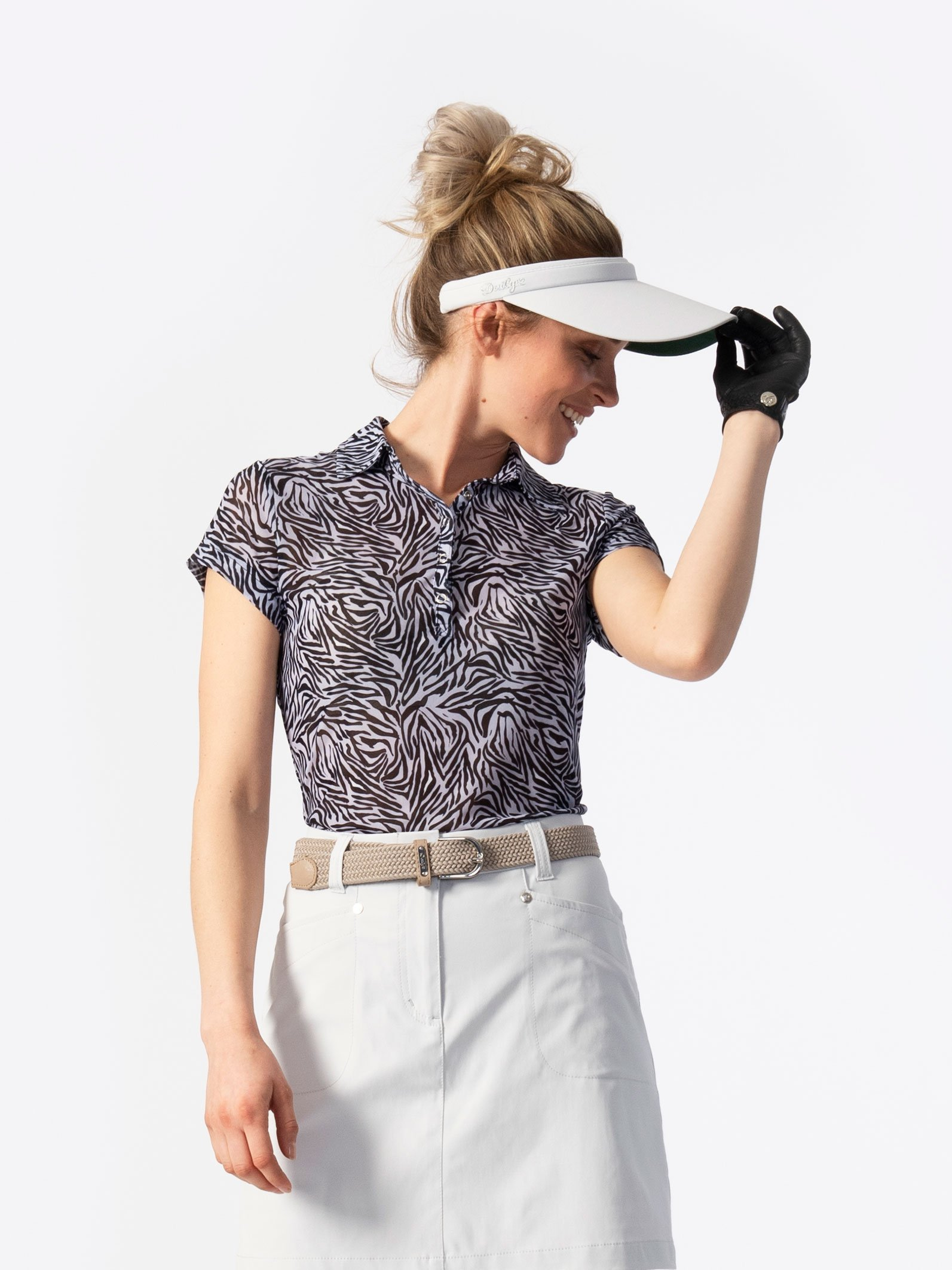 Kiara Short-sleeved Mesh Polo Shirt