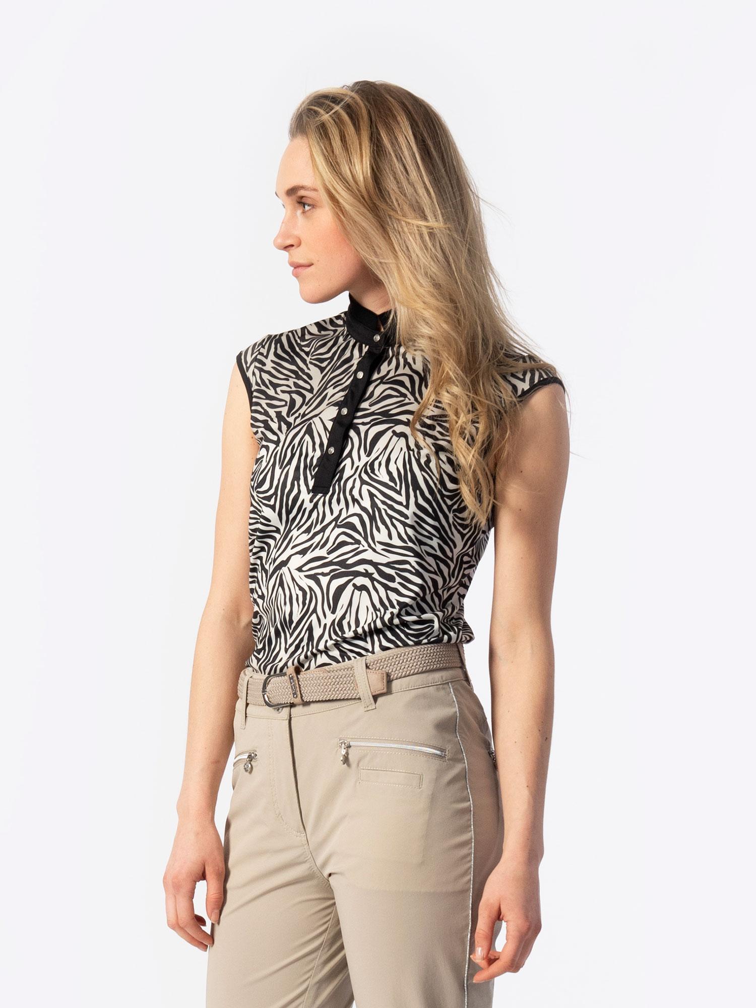 Tiana Cap Sleeveless Polo Shirt