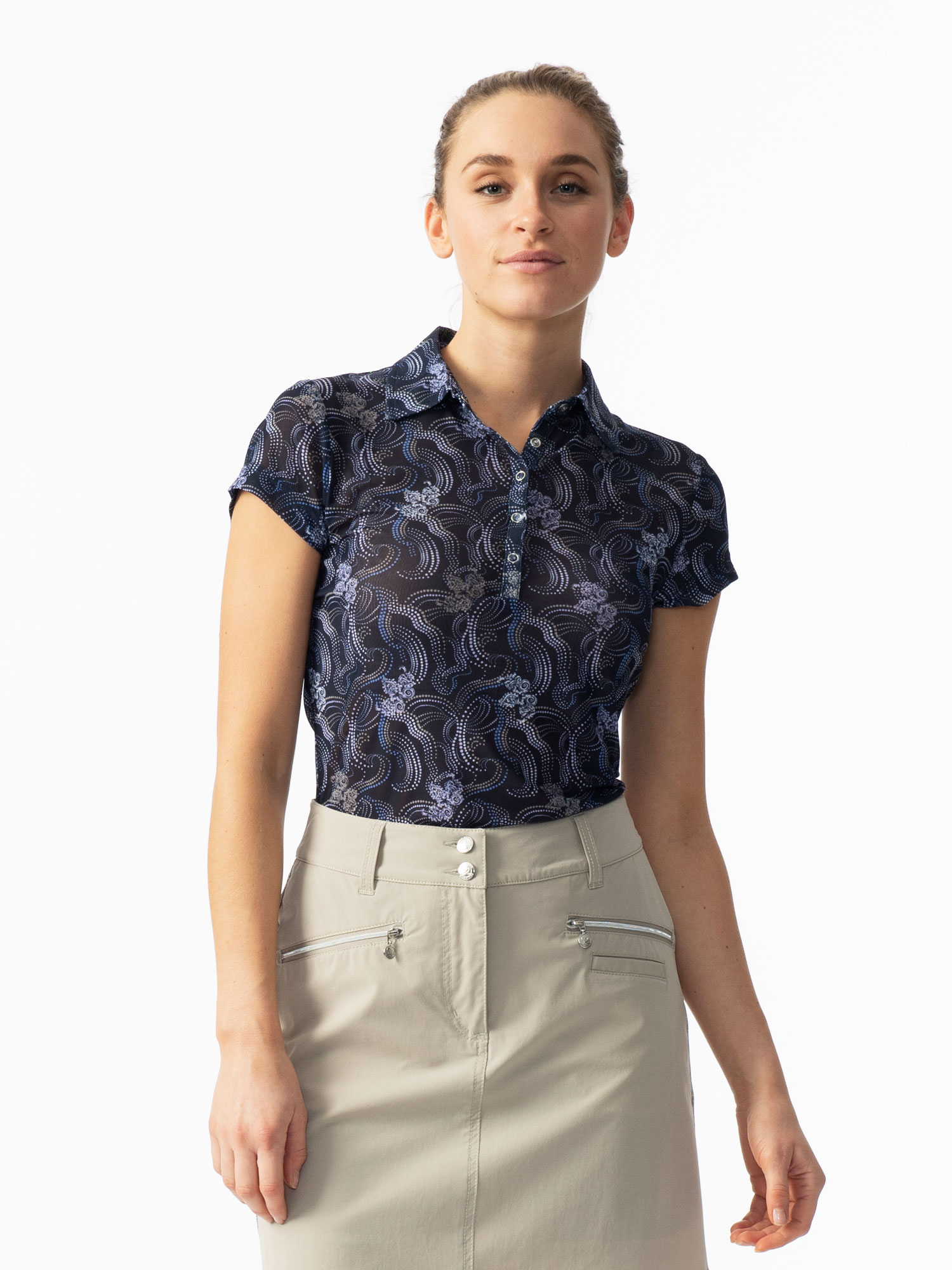 Luisa Short-sleeved Mesh Polo Shirt